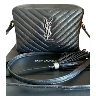 Saint Laurent Distressed Leather Medium Lou Crossbody Bag