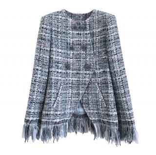Chanel Masterpiece Blue Fantasy Tweed Fringed Jacket
