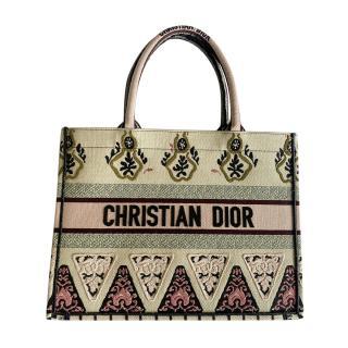 Dior Rare Embroidered Floral Small Book Tote