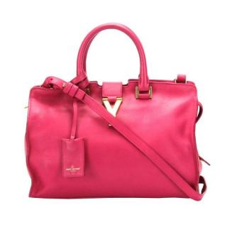 Saint Laurent Pink Cabas Chyc Leather Bag