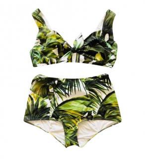 Dolce & Gabbana Tropical Jungle Print High Waist Bikini