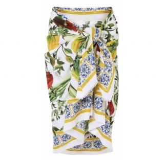 Dolce & Gabbana pepper print sarong/scarf