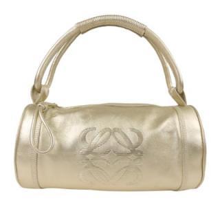 Loewe Gold Leather Anagram Bag