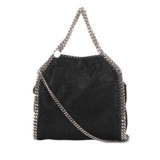 Stella McCartney Black Fabric Falabella Fold-Over Satchel