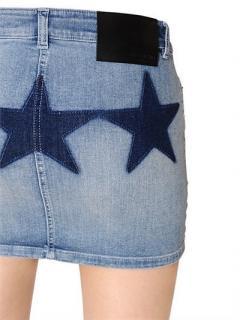 Givenchy star print denim mini skirt