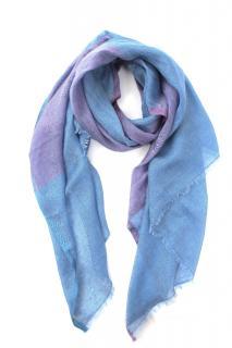 Loro Piana SIlk & Linen Blue/Purple Shawl