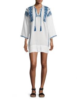 Isabel Marant Vinny Embroidered Tassel Tunic