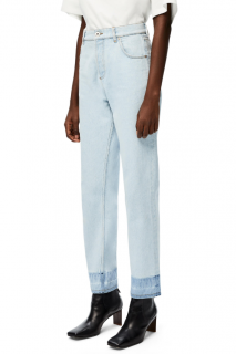 Loewe Light Blue Tapered Contrast Cuff Jeans