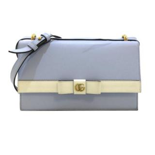 Gucci Blue & Cream Japan Exclusive GG Leather Crossbody Bag