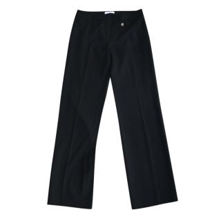 Versace Collection Black Wide Leg Tailored Trousers