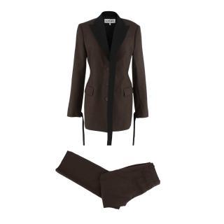 Loewe Two-Tone Wool Twill Longline Tailored Jacket & Trousers