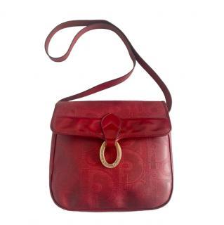 Dior Vintage Two-Tone Monogram Shoulder Bag