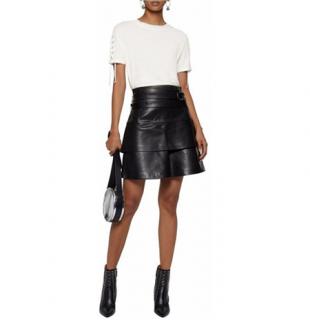 Iro Marika Black Leather Skirt