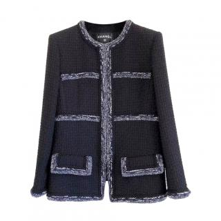 Chanel 2017 pre fall Cosmopolite Black Tweed Braided Trim Jacket