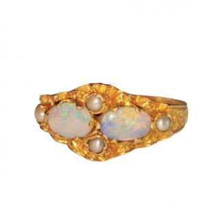 Bespoke Opal & Seed Pearl Ring