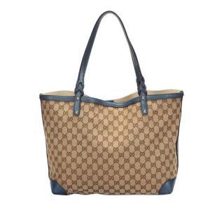 Gucci GG Canvas Craft Tote Bag