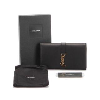Saint Laurent Monogram Leather Clutch Bag