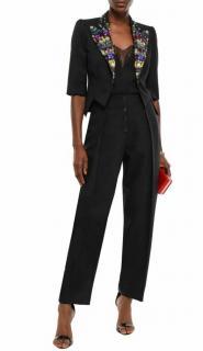 Dolce & Gabbana Crystal Embellished Short Tailored Jacket