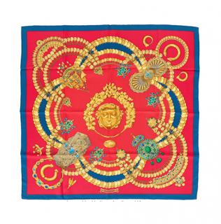 Hermes Kosmima Print Silk Scarf 90