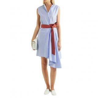 Brunello Cucinelli Asymmetric Contrast Belt Dress