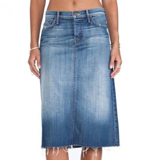 Mother The Straight A Moontide Denim Skirt