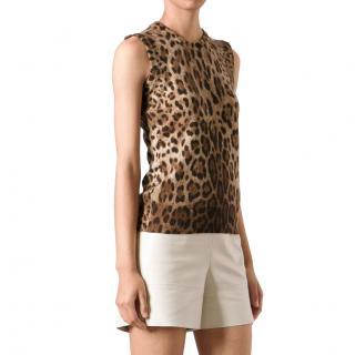 Dolce & Gabbana Leopard Print Cashmere Vest