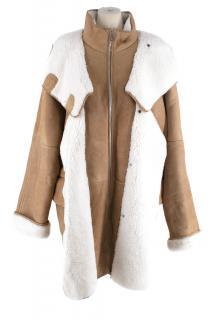 Loewe Oversized Shearling Beige Coat