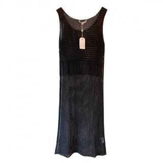 Lily & Lionel Black Crochet Dress