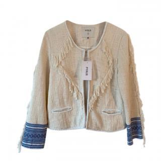 PYRUS Ivory Embroidered Tassel Reunion Jacket