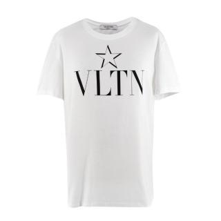 Valentino White VLTN Print T-Shirt
