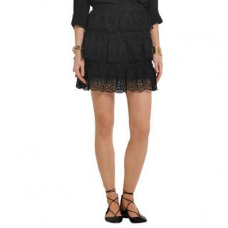 Self Portrait Scallop Edged Mini Skirt
