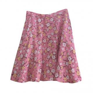 Polo Ralph Lauren Pink Floral Print Mini Skirt