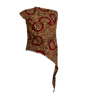 Vivienne Westwood Anglomania Leopard Print Asymmetric Top
