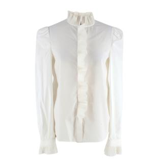Philosophy Di Lorenzo Serafini Cream Pliss� Long Sleeve Shirt