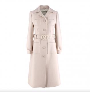 Gucci Gardenia GG-belt wool coat. Sold Out.