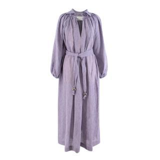 Lisa Marie Fernandez Poet Lavender Organic Linen Dress