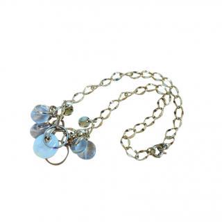 Dyrberg/Kern Crystal Gold Tone Charm Necklace