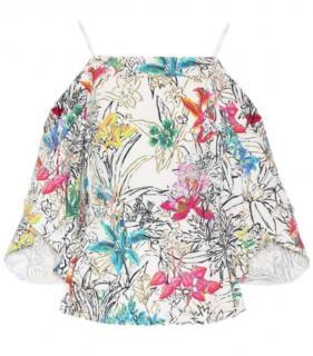Peter Pilotto floral print cold shoulder top