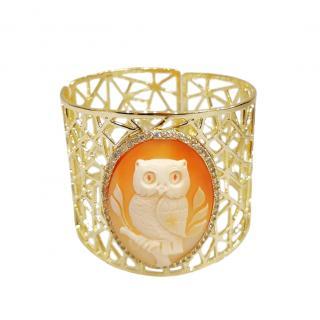 Amedeo Scognamiglio Gold Tone Owl Cuff