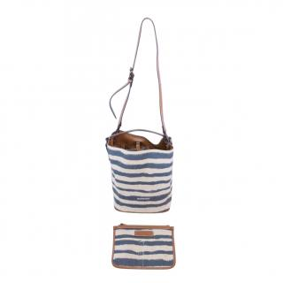Burberry Blue Striped Vintage Ashby Bag & Pouch