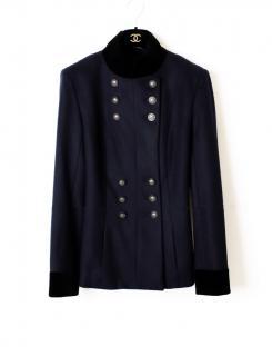 Chanel Paris/Dallas Alpaca Wool & Silk Blend Military Jacket