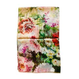 Dolce & Gabbana Blush Floral Print Wrap Scarf