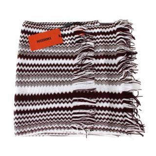Missoni Black & White ZigZag Knit Scarf