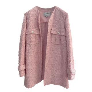 Chanel 2021 Sold Out Pink Boucle Tweed Knit Jacket