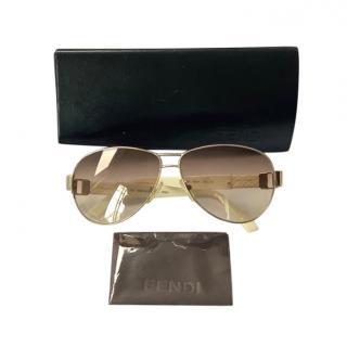 Fendi Vintage Aviator Sunglasses