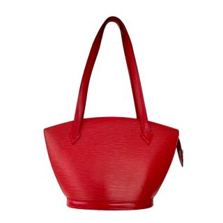 Louis Vuitton Red Epi Leather St Jaques Tote Bag