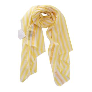 Weekend Max Mara Yellow & White Striped Shawl
