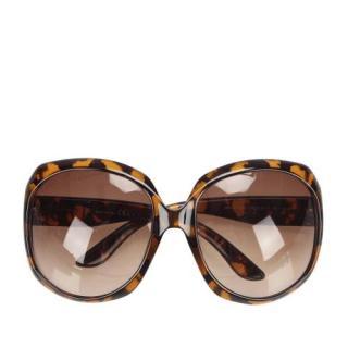 Dior Faux Tortoiseshell Glossy 1 Square Tinted Sunglasses