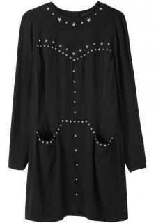 Isabel Marant Black Studded Krista Crepe Dress