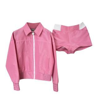 Chanel Identification Pink Track Jacket & Shorts